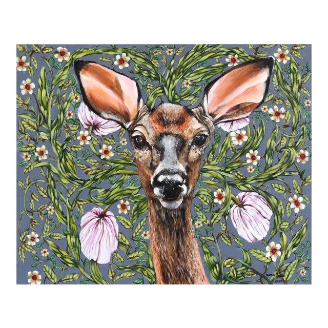 """""""Deer"""" Original Artwork by Naomi Jones For Sale"""
