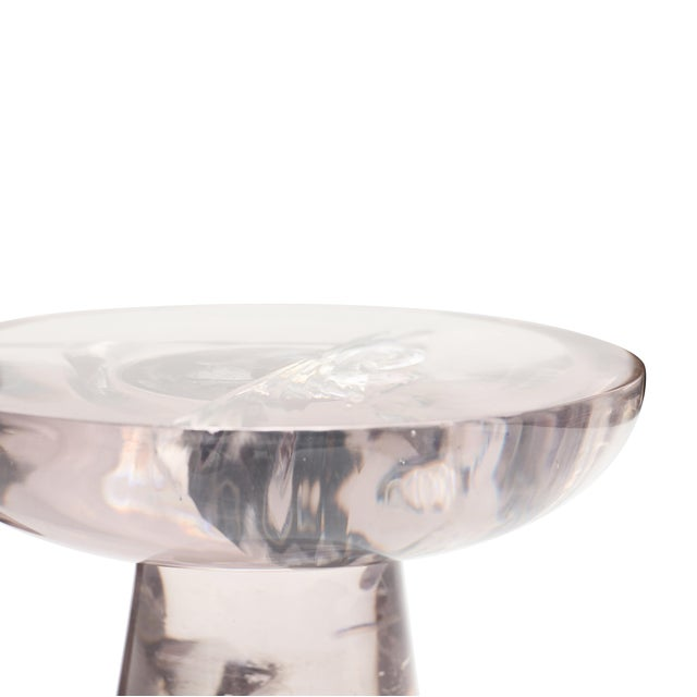 "GLACIER RESIN DRINK TABLE | Mauve | By Sylvan San Francisco W 11.50"" X D 11.50"" X H 17.75"" Material: Glacier Resin Color:..."