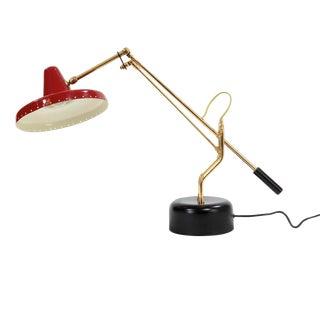 Stilnovo Style Brass Desk Lamp
