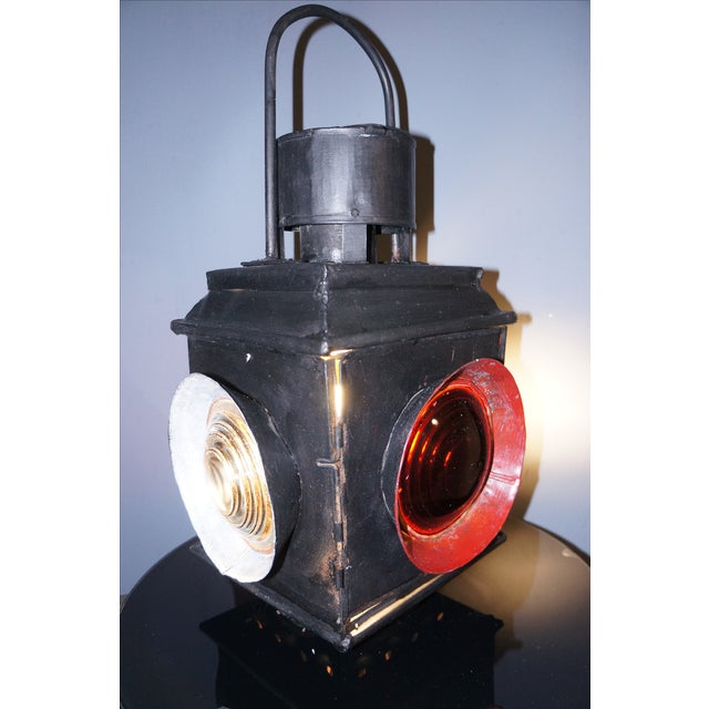Antique Railroad Signal Light Table Lamp - Image 2 of 8