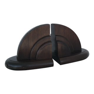 Solid Walnut Bookends - a Pair For Sale