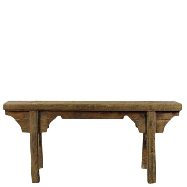 Antique Chinese Elm Countryside Bench For Sale