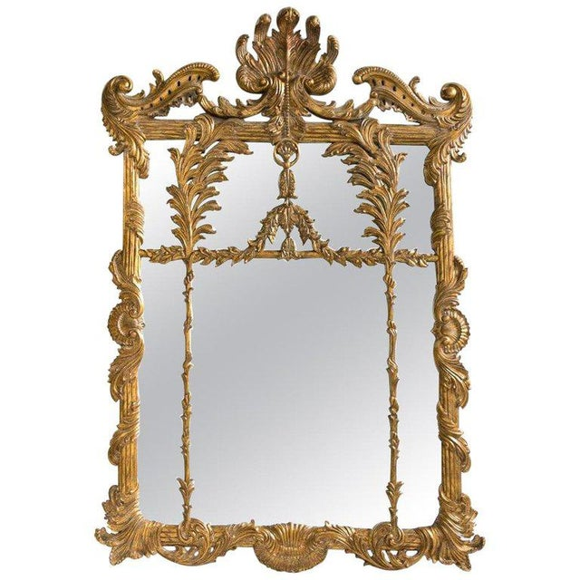 La Barge Italian Style Foliate Giltwood Wall, Console or Over the Mantle Mirror For Sale - Image 13 of 13