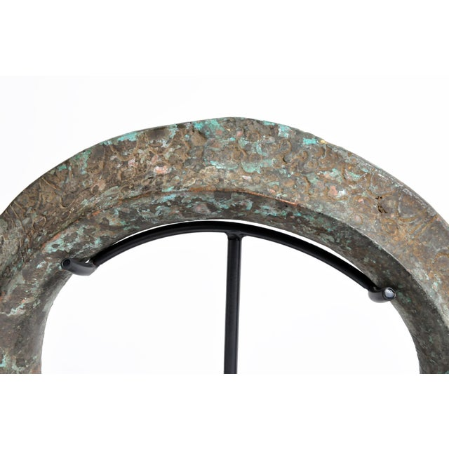Metal Mid Century Vintage Yoruba Currency Torque on Metal Stand For Sale - Image 7 of 13