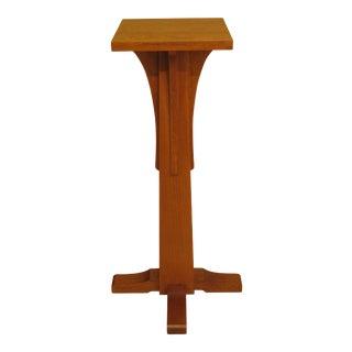 Stickley Mission Oak Pedestal Stand For Sale
