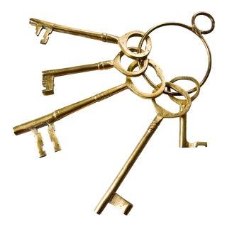 Vintage Brass Skeleton Keys