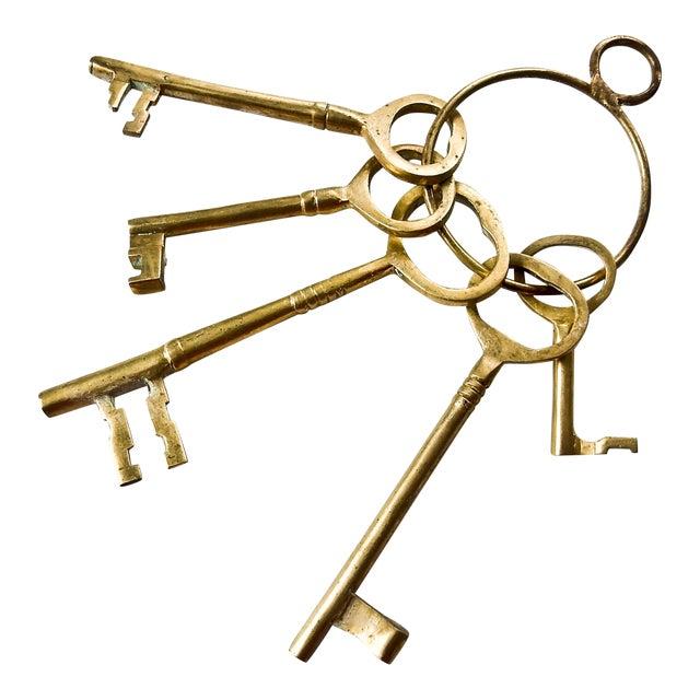 Vintage Brass Skeleton Keys - Image 1 of 9