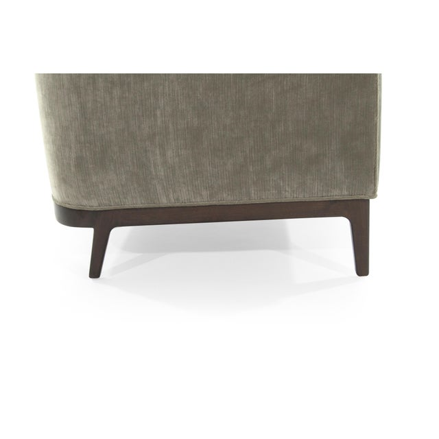Mid-Century Modern Tub Chairs in Chenille For Sale - Image 9 of 12