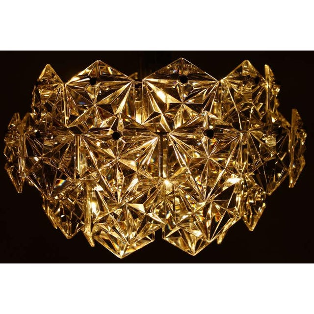 Mid-Century Modern Four Tiers Crystal Glass Chandelier by Kinkeldey, 1960s For Sale - Image 3 of 6