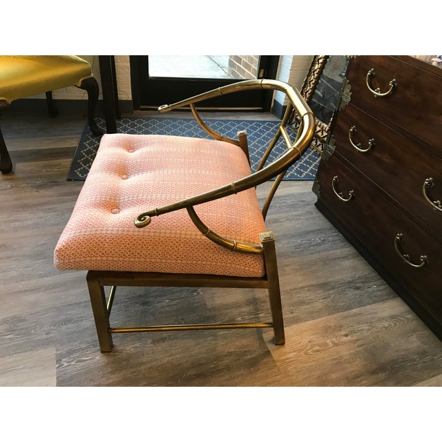 1970's Brass Ming Chair - Image 2 of 6