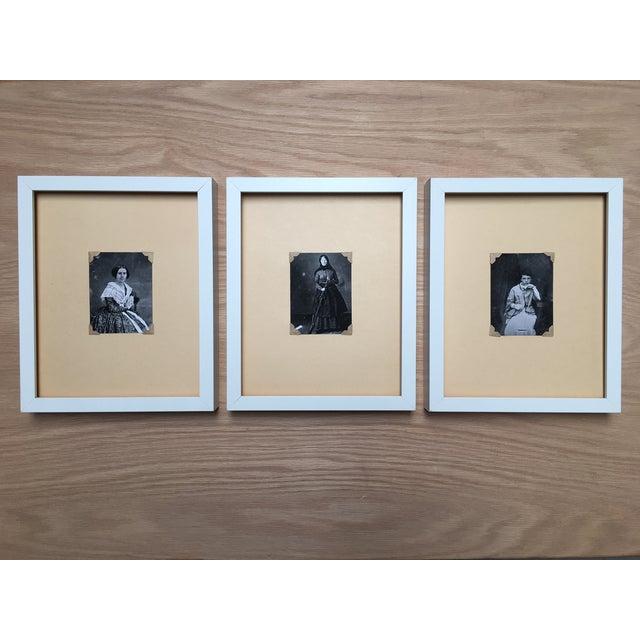 Vintage Framed Daguerreotype Prints - Set of 3 - Image 2 of 7