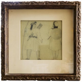 'Persian Soldiers' Costume Drawing For Sale