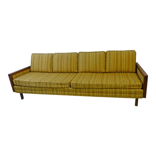 Mid-Century Modern Walnut Couch - Image 1 of 8