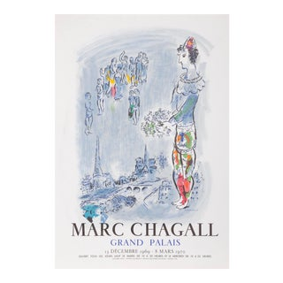 """Marc Chagall, """"Le Magicien De Paris"""", Modern Lithograph Poster For Sale"""
