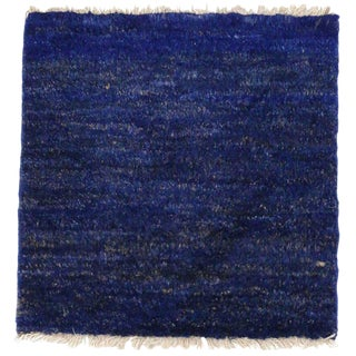 Modern Blue Moroccan Style Accent Rug, Kitchen Mat, Foyer, Entry or Bathroom Rug For Sale