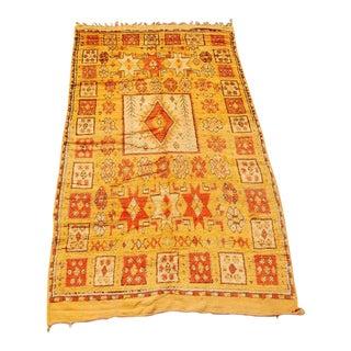 Moroccan Vintage Tribal Orange Rug For Sale