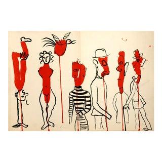 Alexander Calder, Derriere Le Miroir No. 156, Edition: 2500, Lithograph, 1966 For Sale