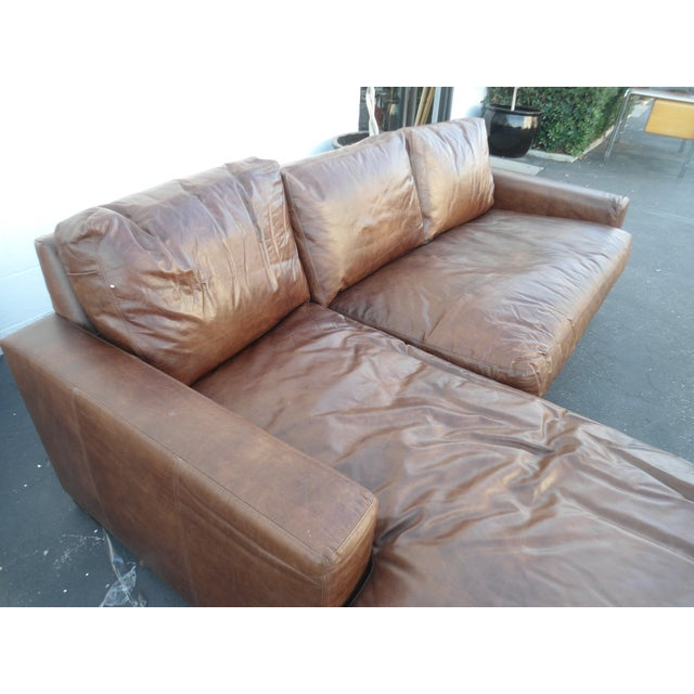 Industrial Restoration Hardware Maxwell Petite Italian Brompton Sectional For Sale - Image 3 of 7