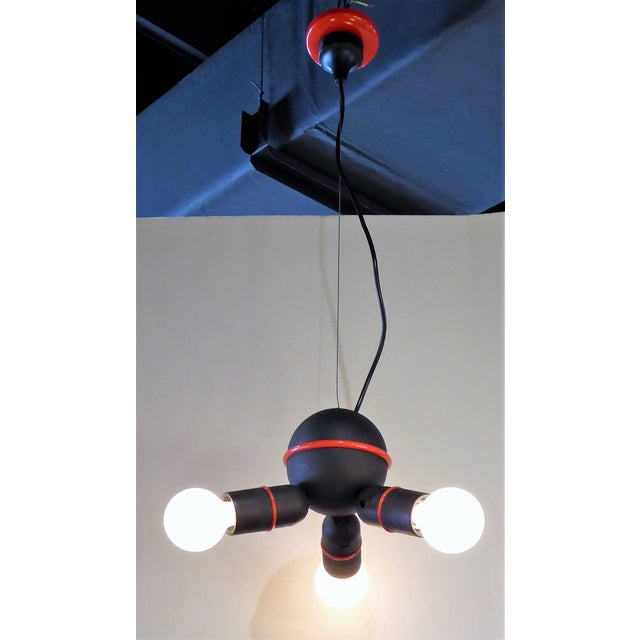 Roger Tallon Roger Tallon for LIFA, French 70s Suspension Mod Op Pop Pendant For Sale - Image 4 of 10