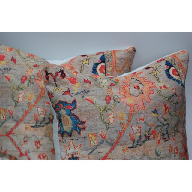 Multi-Colored Rug Print Pillow Covers - A Pair - Image 3 of 7