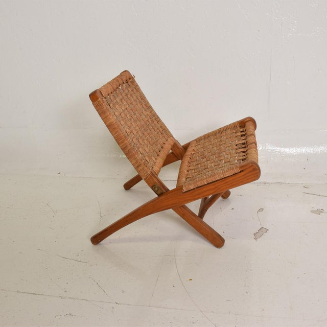 Mexican Modernist Small Folding Chair After Clara Porset For Sale In San Diego - Image 6 of 8