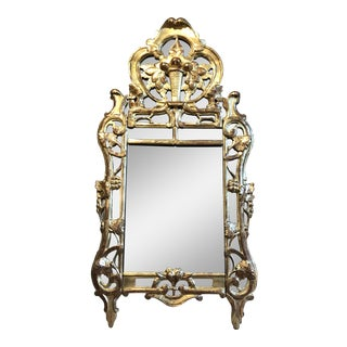 18th C. French Beaucaire Watergilt Mirror For Sale