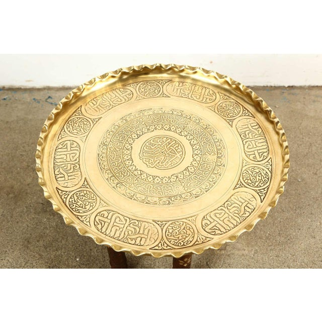 Moorish Brass Tray Side Table For Sale - Image 4 of 10