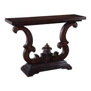 Console Table Cambridge Dark Rustic Solid Wood For Sale