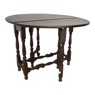 19th Century English Oak Gateleg Table For Sale