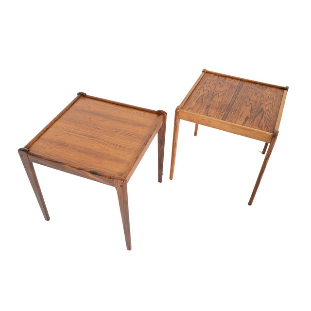 Danish Modern Rosewood Side Tables - A Pair - Image 3 of 6