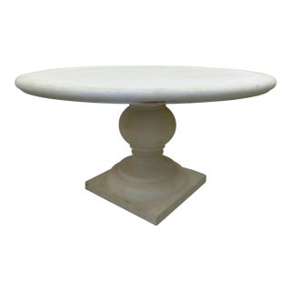 1990s Italian Monumental Cast Stone Round Dining Table For Sale
