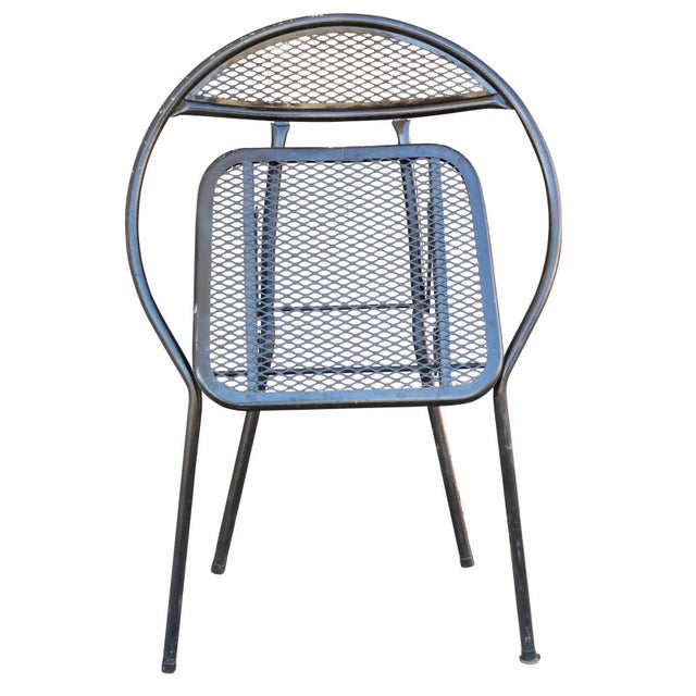 1960s Salterini Mid-Century Modern Steel Outdoor or Patio Dining Set with Four Chairs For Sale - Image 5 of 8