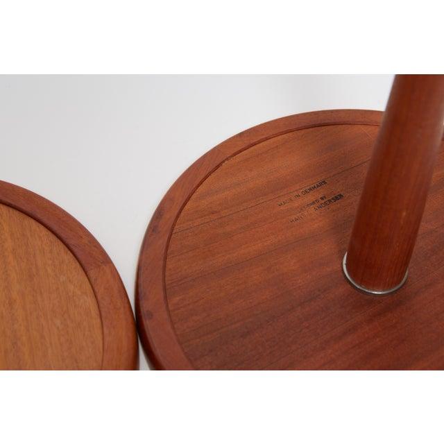 Danish Modern 1960s Danish Modern Hans C. Anderson Teak Side Tables - a Pair For Sale - Image 3 of 7