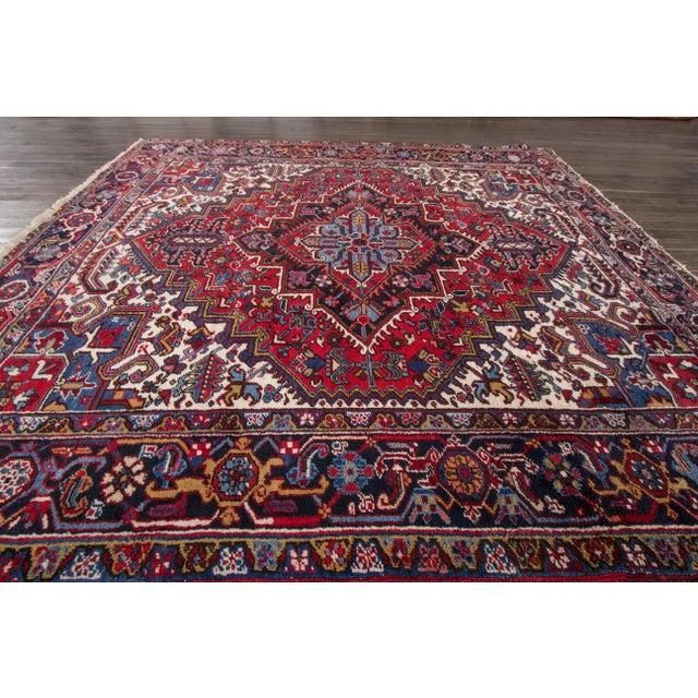 """Apadana - Vintage Persian Heriz Rug, 8' x 8'9"""" - Image 6 of 7"""