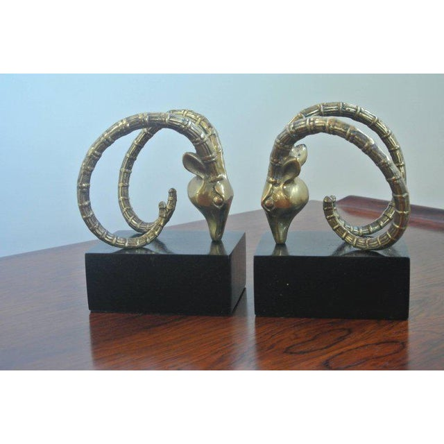 Lacquer Ibex Bookends in the Manner of Alain Chervet For Sale - Image 7 of 7