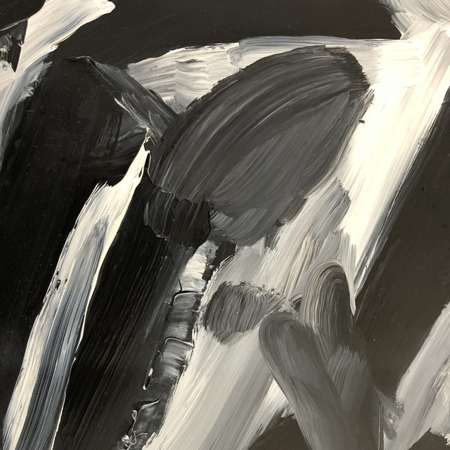 Abstract Abstract Painting in Acrylic by Erik Sulander 10 X 10 on Dacron For Sale - Image 3 of 4