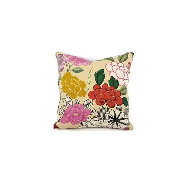From Manuel Canovas is Misia in the color Multicolor. This is a linen print fabric featuring a floral print in colors of...