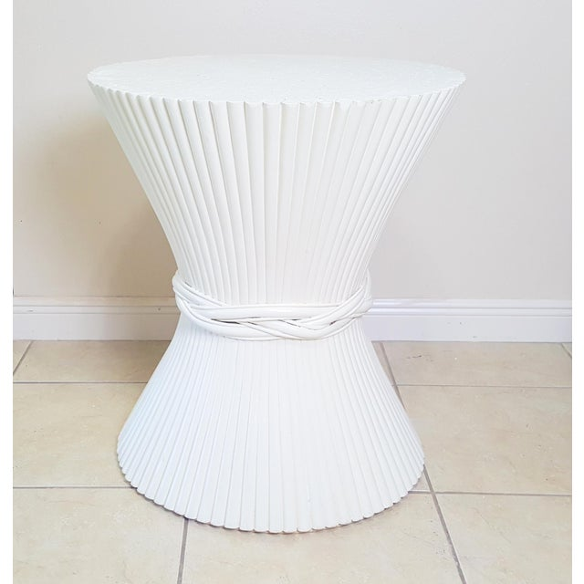 Hollywood Regency McGuire Sheaf of Wheat Dining Table Base For Sale - Image 9 of 9