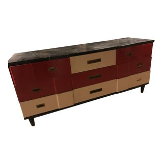 1950s Mid-Century Modern John Widdicomb Painted 9-Drawer Dresser For Sale
