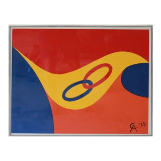 "Alexander Calder ""Friendship Rings"" Lithograph, 1974 For Sale"