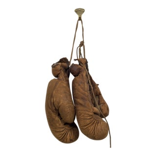 Leather Junior Boxing Gloves by a.j. Reach Company C. 1874-1934 For Sale