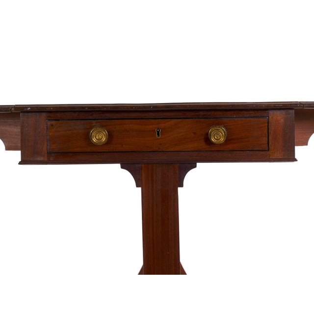 19th Century English Regency Antique Mahogany Sofa Accent Table, Circa 1815 For Sale - Image 9 of 13