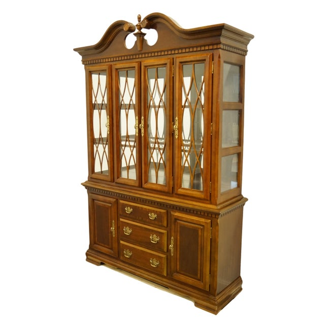 """Universal Furniture chippendale style 57"""" illuminated display china cabinet. We specialize in high end used furniture that..."""