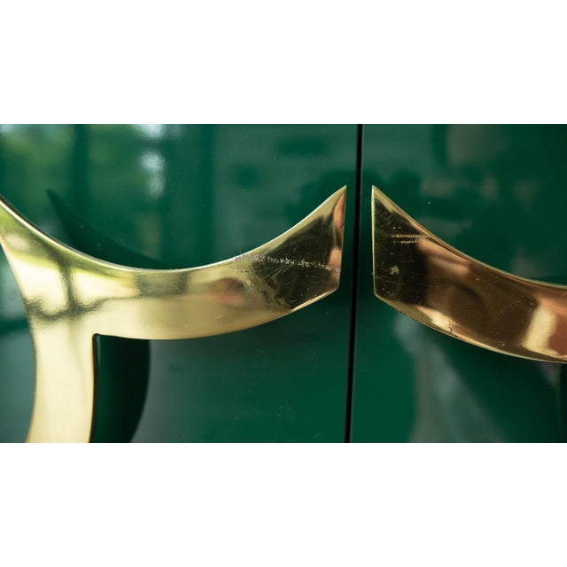 1960's Hollywood Regency Emerald Green Laminate Credenza For Sale - Image 9 of 13
