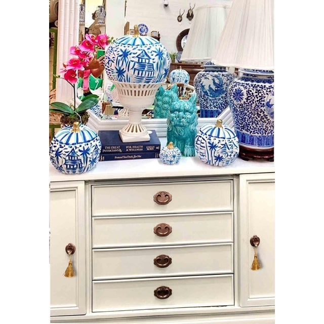 Fresh out of our paint studio we have a wonderful chinoiserie credenza by A of M. Perfect space saving design with all its...