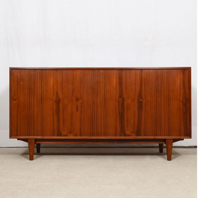 Brown 1950s Kofod Larsen Danish Teak Cabinet / Room Divider For Sale - Image 8 of 9