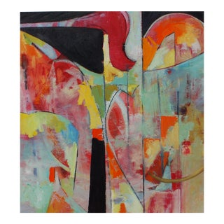 Contemporary Abstract Oil and Acrylic Paintings on Rag Paper