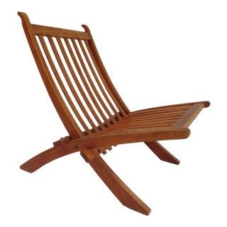 Original & Rare Hans Wegner Folding Chair in Mahogany for Johannes Hansen, Denmark, C.1962 For Sale