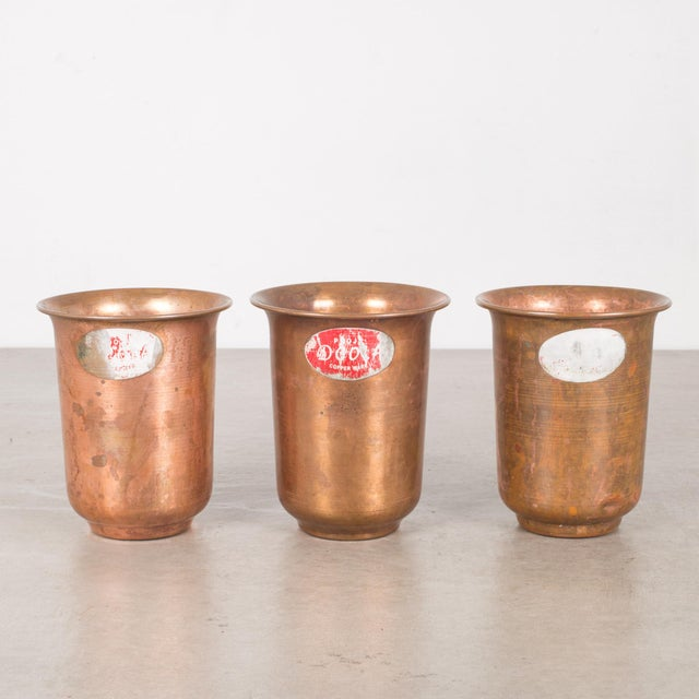 Set of Copper Ware Picnic Cups C.1950 - Set of 6 For Sale - Image 4 of 8