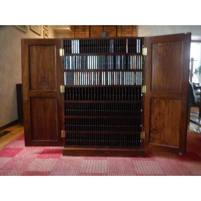 Indian Iron Wood CD/DVD Armoire - Image 4 of 10